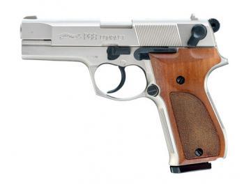Walther P88 Schreckschuss, Holz Nickel